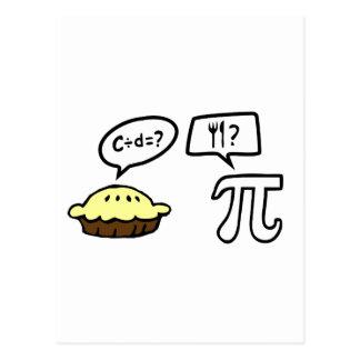 Pie & Pi Postcard