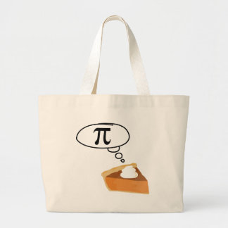 Pie Thinking of Pi Canvas Bags