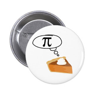 Pie Thinking of Pi Pinback Buttons
