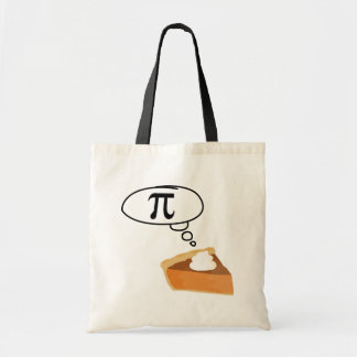Pie Thinking of Pi Tote Bags