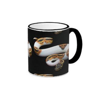 piebald ball python coffee mug