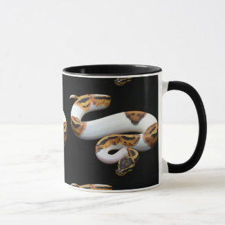 piebald ball python mug