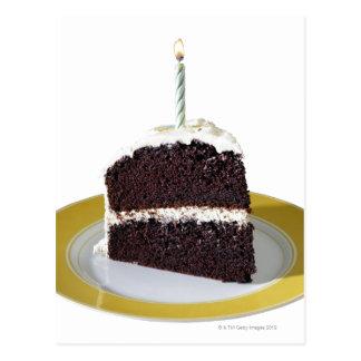 Piece of Birthday Cake Postcard