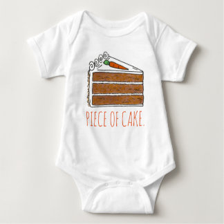 PIECE OF CAKE Carrot Spice Layer Cake Slice Foodie Baby Bodysuit