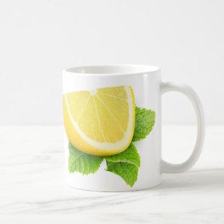 Piece of lemon basic white mug