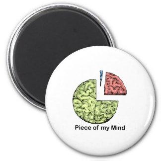 Piece of Mind 6 Cm Round Magnet