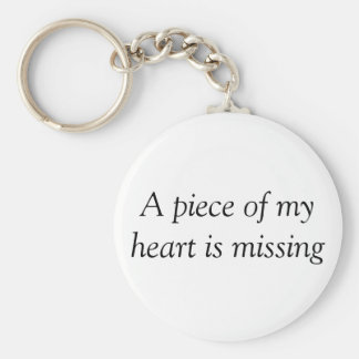 Piece of my heart missing basic round button key ring