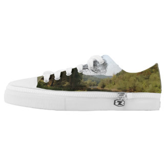 Piece of nature printed shoes