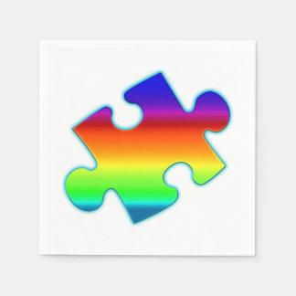 Piece of Rainbow Disposable Napkin