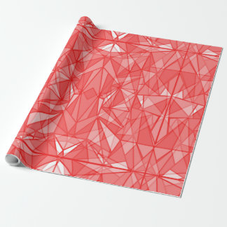 PiecedLayered Reds Wrapping Paper