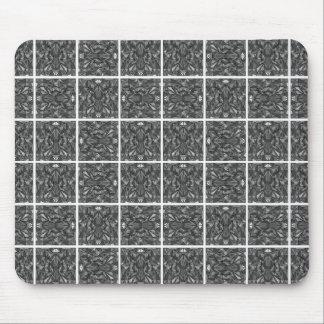 PiecedLayered Tiles 6x6 BandW Mouse Pad