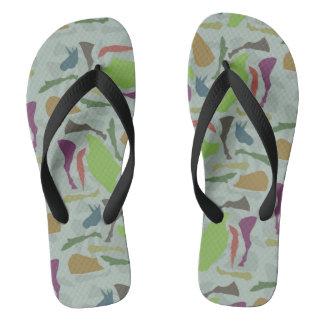 Pieces Of Unicorn Flip Flops