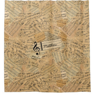 Pieces of Vintage Music ID389 Shower Curtain