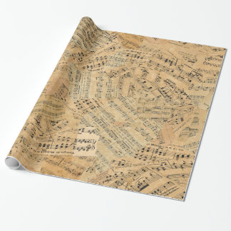 Pieces of Vintage Music ID389 Wrapping Paper