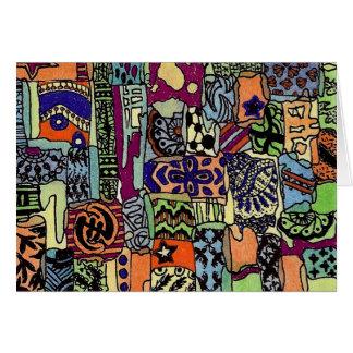 Piecie-Piecie Artwork Card- Blank Card