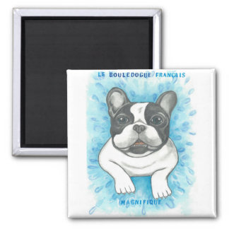 Pied French Bulldog magnet