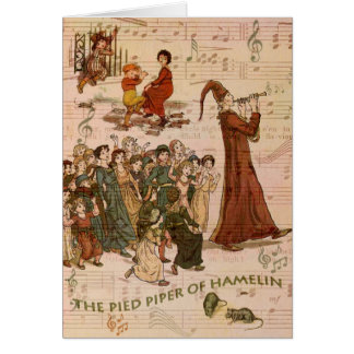 Pied Piper Collage Card