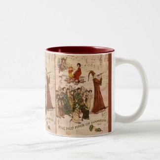 Pied Piper Collage Two-Tone Coffee Mug