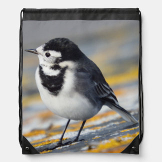 Pied Wagtail Drawstring Backpack