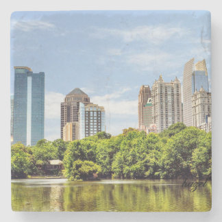 Piedmont Park Skyline, Summer, Atlanta, Georgia, Stone Coaster