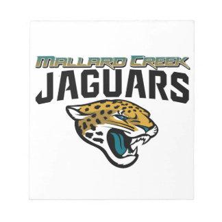 Piedmont Youth Football Mallard Creek Jaguars Memo Note Pads