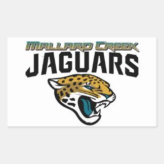 Piedmont Youth Football Mallard Creek Jaguars Rectangle Sticker