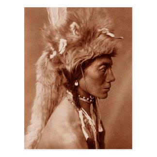 Piegan Blackfoot Native American Man Postcard