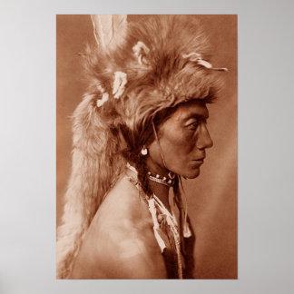 Piegan Blackfoot Native American Man Poster