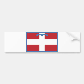 piemonte region flag italy country county bumper sticker