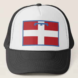 piemonte region flag italy country county trucker hat