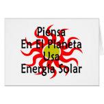 Piensa En El Planeta Usa Energia Solar Card