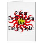 Piensa En El Planeta Usa Energia Solar Cards