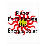 Piensa En El Planeta Usa Energia Solar Postcards
