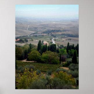 Pienza Landscape Print