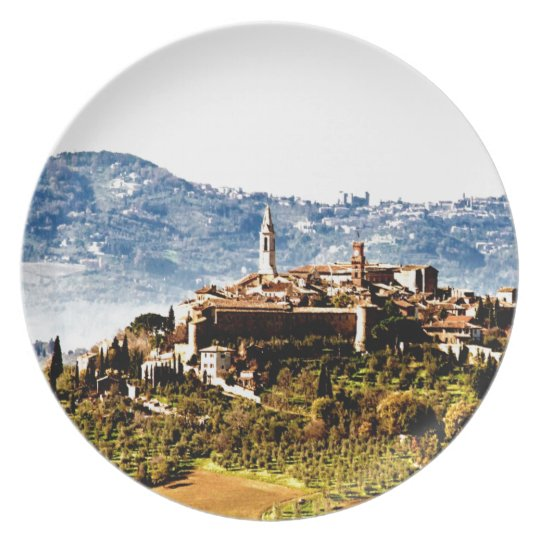 pienza montalcino mountain history plate