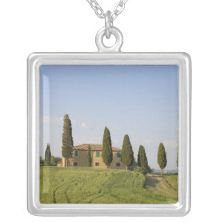 Pienza, Val d'Orcia, Siena province, Tuscany, Silver Plated Necklace