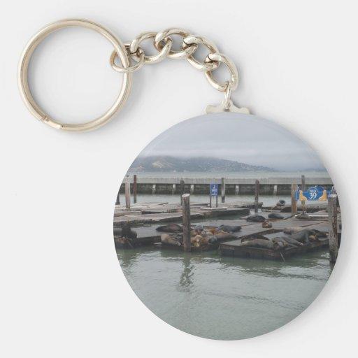 Pier 39 of San Francisco Key Chain