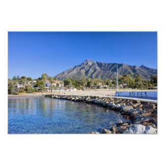 Pier and Beach in Marbella Photograph