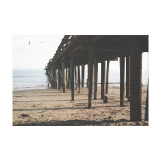 Pier and Seagulls Canvas Print