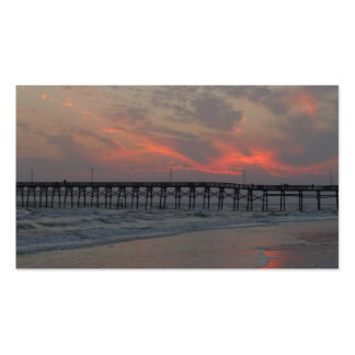 Pier and Sunset - Oak Island, NC Business Card Template