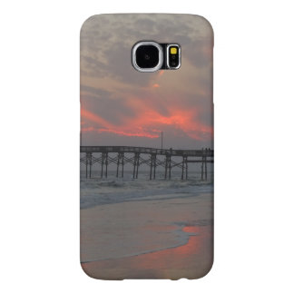 Pier and Sunset - Oak Island, NC Samsung Galaxy S6 Cases