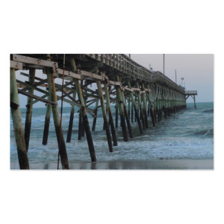 Pier and Waves - Oak Island, North Carolina Business Card Templates