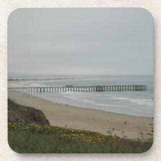 Pier at Pismo Beach, California Drink Coaster