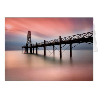 Pier at sunset card