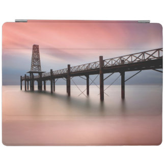 Pier at sunset iPad cover