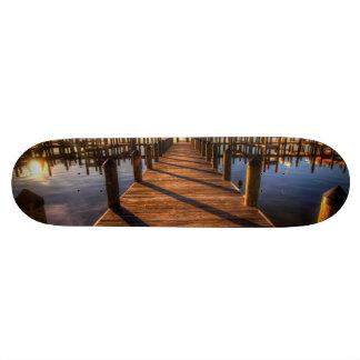 Pier HDR sunset Skateboards
