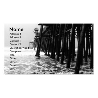 Pier in Black and White Business Card Templates