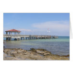 Pier In Paradise (Blank) Greeting Card