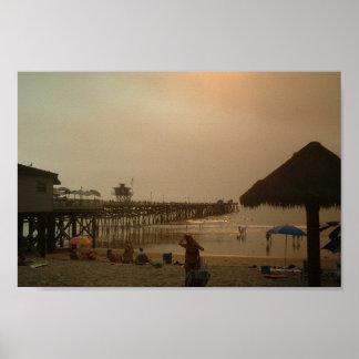 Pier In San Clemente, California Poster