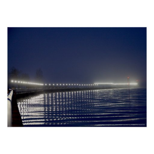 PIER LIGHTS, BEACON, & LIGHTHOUSE, GRAND HAVEN, MI POSTER